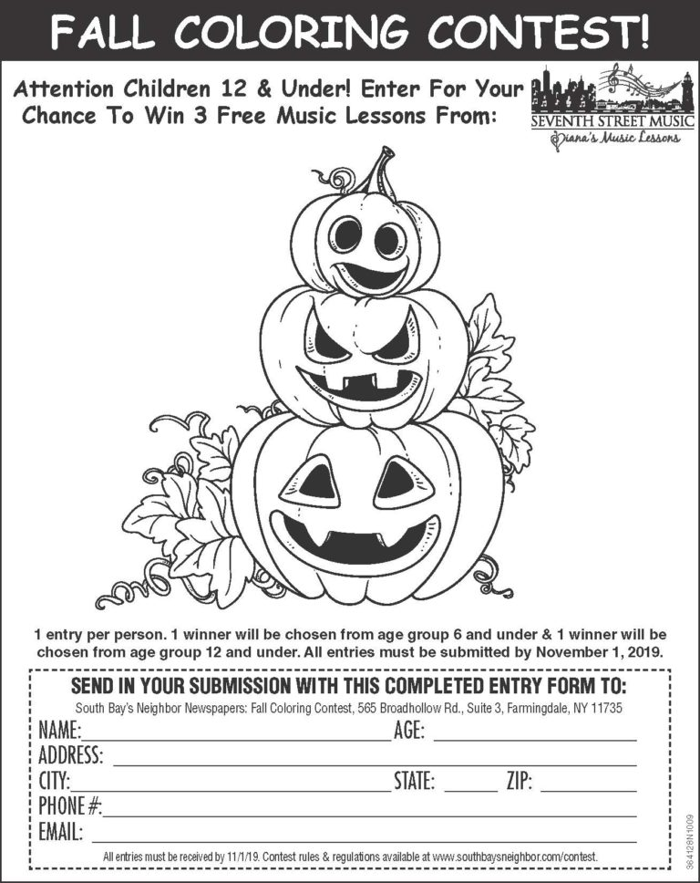 Fall Coloring Contest
